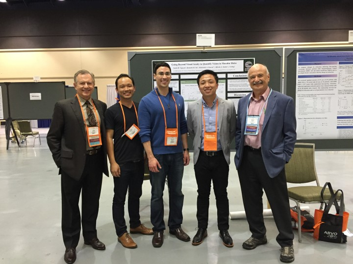 VMR Institute's Dr. Jerry Sebag, Researchers Kenneth Yee, Carlo Garcia, Justin Nguyen, and Doheny Eye Institute's Dr. Sadun