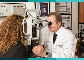 Jerry Sebag MD retina specialist huntington beach 92647 consulting with patient