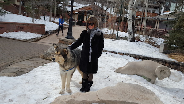 Dr. Sebag's Wife Poses with Giant Dog